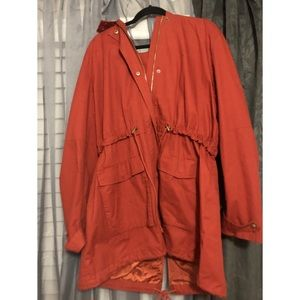 Hooded Anorak Jacket Plus size